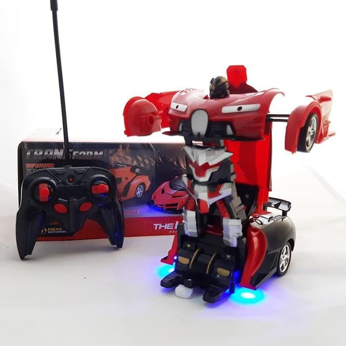 RC Mobil Transfomers Ferrari Mainan Robot Remote Control