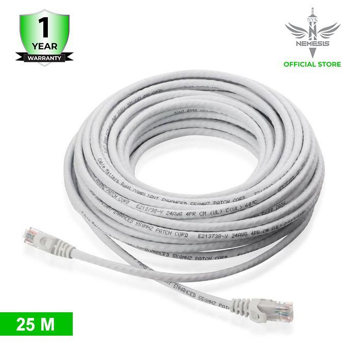 NYK Kabel LAN UTP Cat 6 RJ45 Panjang 25 Meter