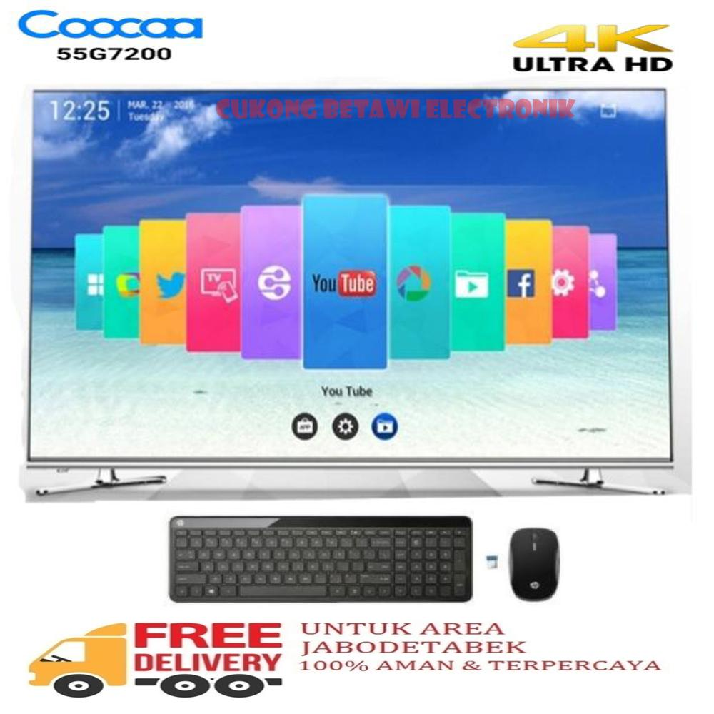 COOCAA 55G7200 PREMIUM LED SMART TV IPS 4K 55 INCH-KHUSUS JABODETABEK