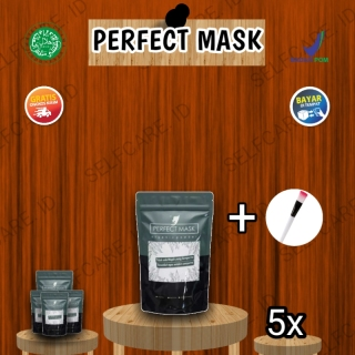 PERFECT MASK Masker wajah sheet mask original Multivitamin Serum Sheet Mask Terbaik Di kelasnya Baik untuk remaja Pria wanita Mengatasi Jerawat Dan kulit kusam Paket Jumbo BY Selfcare.id thumbnail