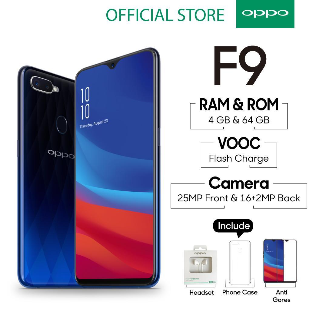 OPPO F9 4GB/64GB SMARTPHONE 25MP AI Selfie Camera (COD, Garansi Resmi OPPO