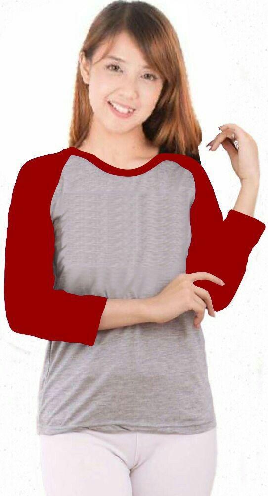 CAMELLIA /Kaos Wanita/Kaos Wanita Raglan Polos (ONE-SIZE) Kaos Wanita Raglan Lengan Panjang, Lengan 3/4, Lengan Pendek /  Kaos Wanita Model Masa Kini/Kaos Fashion/Kaos Model/Kaos kekinian/Kaos Unisex/Kaos Oblong/Baju Oblong