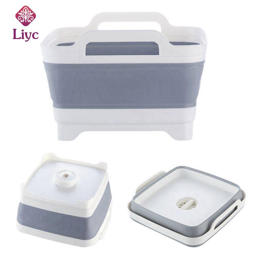 Liyc 1Pcs Plastic wash Vegetable Fruit basket Foldable Creative Portable Camping Fishing Kitchen Bath Cleaning Tools Outdoor Accessories