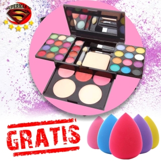 SUPERMAN ID - PROMO ADS Make Up Set Pallate - Make-Up Kit Lengkap Komplit Lipstik Bedak Powder Fashion Colours 42 Warna + GRATIS pons Make Up Model Telur thumbnail