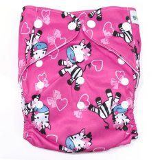 Jual Baby Grow Cloth Diaper With 2 Inserts Zebra Branded Murah