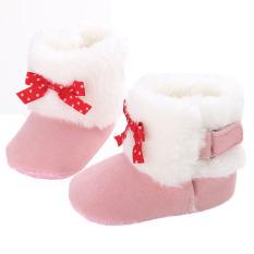 Bayi Balita Sepatu Sandal Wanita Musim Dingin Bayi Plus Velvet Warm Snow Boots WMC905 (Pink)