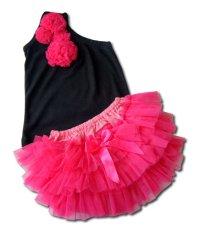 Babymix Setelan Bayi Anak Kaos Celana Tutu Hitam Pink Jawa Timur Diskon