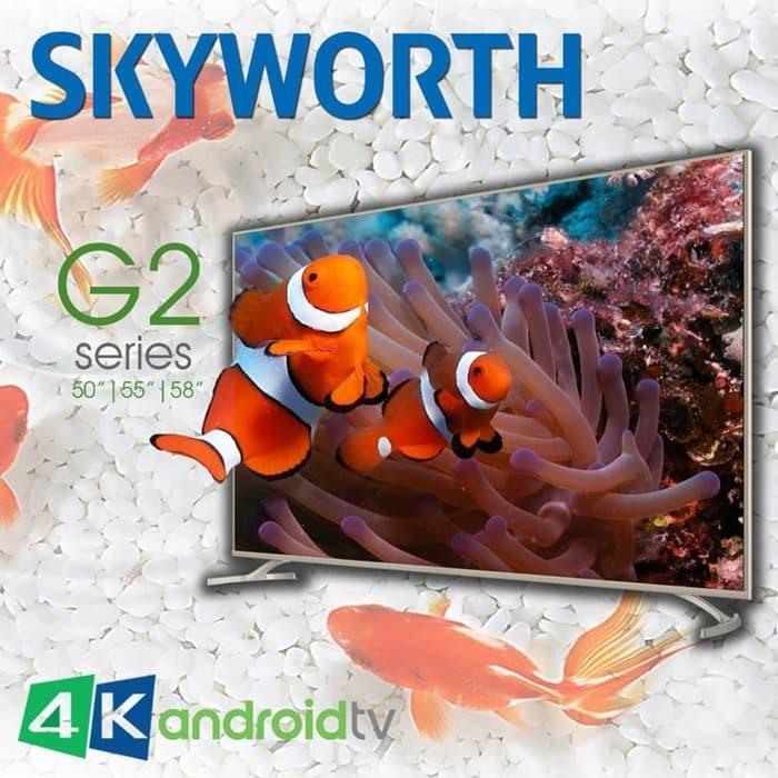 GRATIS ONGKIR COOCAA LED TV 50 inch 4K SMART ANDROID DIGITAL LED UHD TV FREE GAMEPAD- Khusus JATABEK
