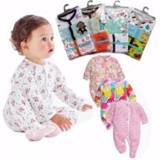 Harga Baju Bayi Sleepsuit 3In1 Jumper Tutup Kaki Lengan Panjang Motif Cewe Asli
