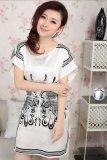 Spek Baju Tidur Baju Santai Wanita Polyester Printing Kupu Kupu Putih Unbranded
