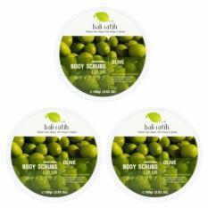 Toko Bali Ratih Paket Body Scrub 110Ml 3Pcs Olive Terlengkap