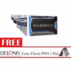 Harga Hemat Barbels 3In1 Men Briefs Ub B700 Multicolor Free Delonix Cont Classic P001 1 Pair