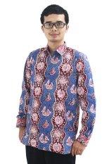 Batik Cap Jambi Model Baju Batik Pria Cap Asli Jambi Berkualistas - Zallatra - Biru