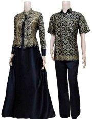 Daftar Harga Batik Solo Couple Sarimbit Bc383 Hitam Lokal