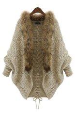 Harga Kardingan Lengan Panjang Cardigan Fur Collar Knitwear Sweater Cocotina
