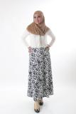 Harga Bawahan Rok Panjang Musoffia Abstract Maxi Skirt Motif Putih Hitam Termurah
