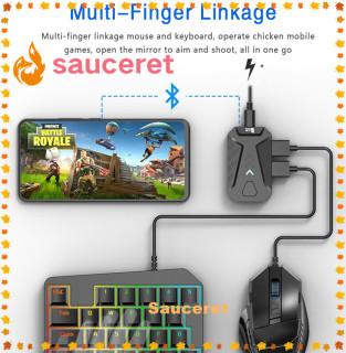 Bộ Chuyển Đổi Chuyên Nghiệp Chuột Và Bàn Phím Chơi Game Bộ Chuyển Đổi Cho Điện Thoại Ios Android Bluetooth 4.1 Cắm Và Chạy Chơi PUBG (Chỉ Có Bộ Chuyển Đổi) thumbnail
