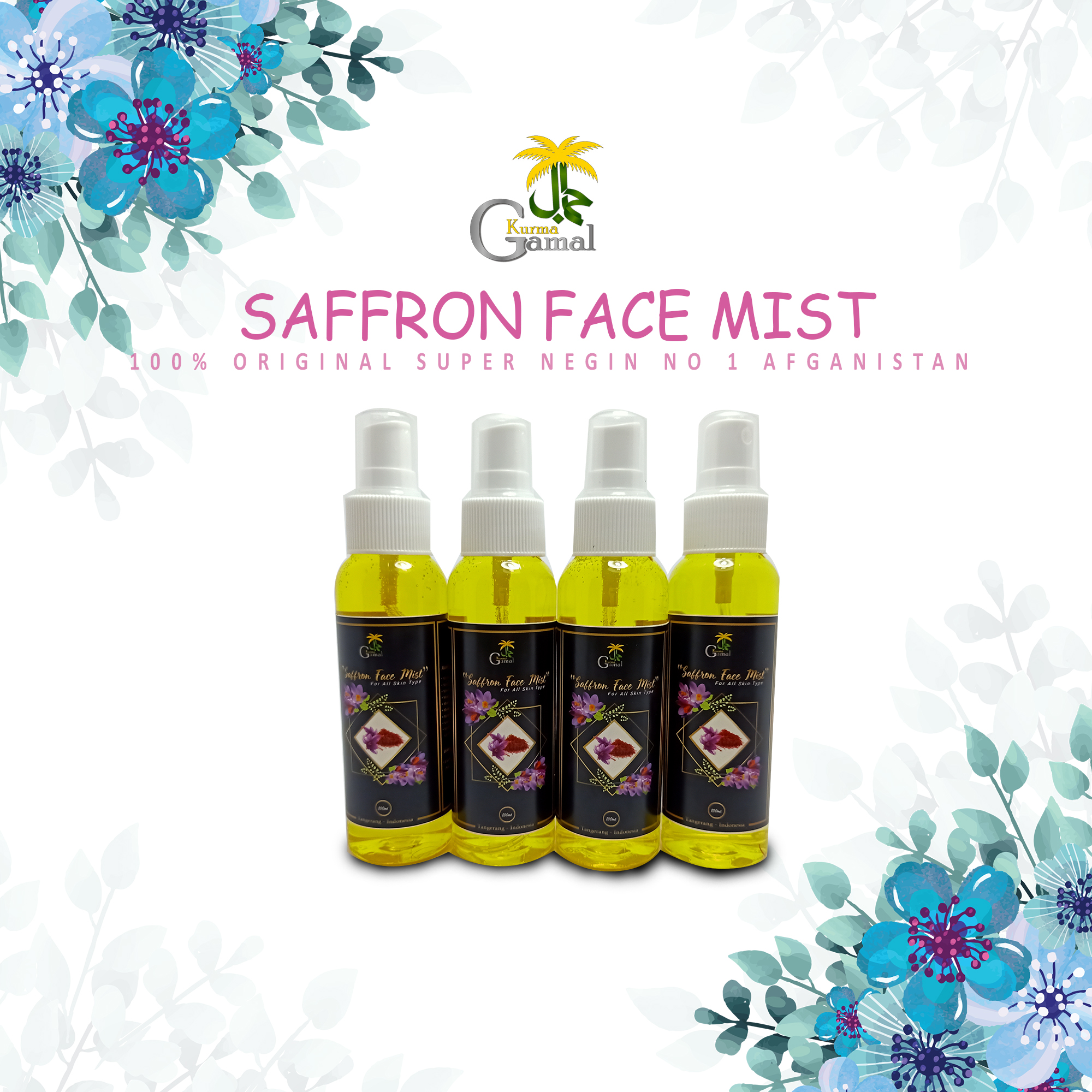 Face Mist Safron Original 100 Super Negin No 1 Afganistan Terbaru 2020 Lazada Indonesia