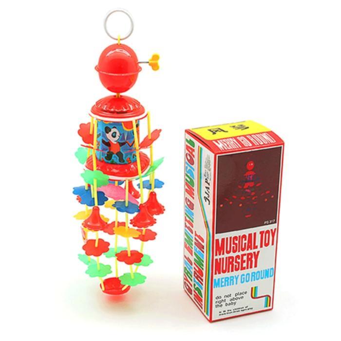 Ravenz Mainan Musik Gantung Bayi Merry Go Round Ps317 - Musical Toy Nursery (mainan Kerincingan Bayi) / Mainan Bayi / Mainan Anak / Mainan Gantung Bayi By Ravenz.