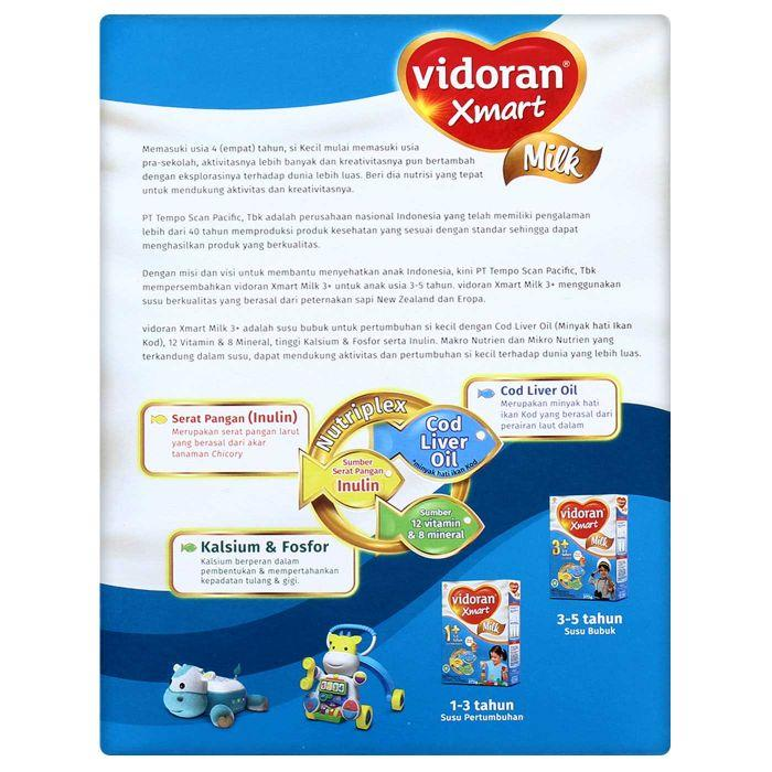 Susu VIDORAN XMART MILK 3+ Nutriplex BARU 725 gram dulu 750 gram