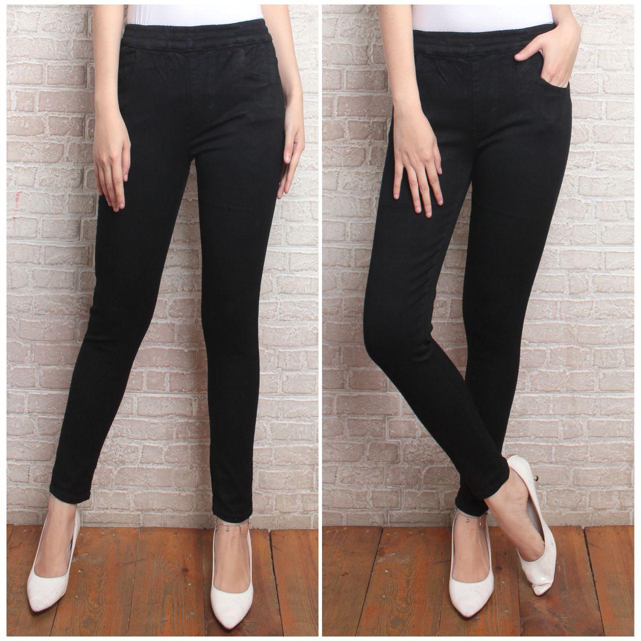 Celana Jeans Pinggang Karet Jumbo Jeans Wanita Legging Jeans Wanita Jeans Terlaris Jahitan Rapi Mellar Street Lazada Indonesia