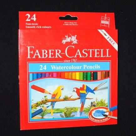 Pensil Warna Faber Castell Watercolour 24