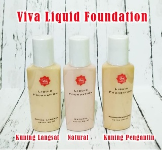 KSR- (COD) ORIGINAL Viva Liquid Foundation Alas Bedak Cair Murah thumbnail