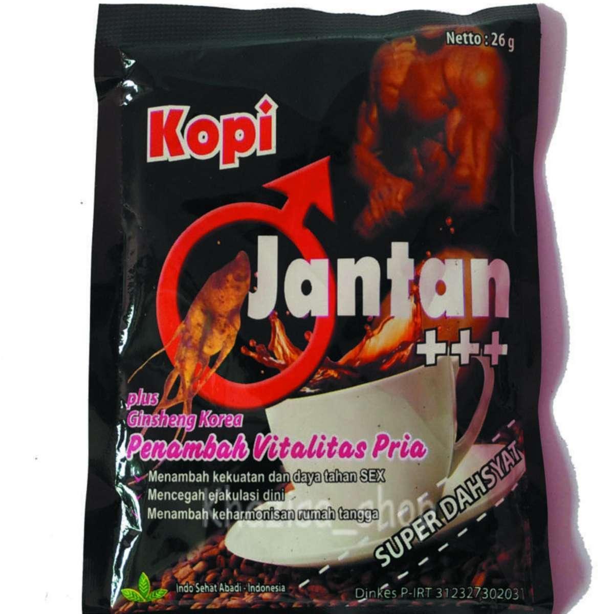 Kopi Jantan Plus Ginseng Korea - 1 Sashet By Hanifah Herbal.