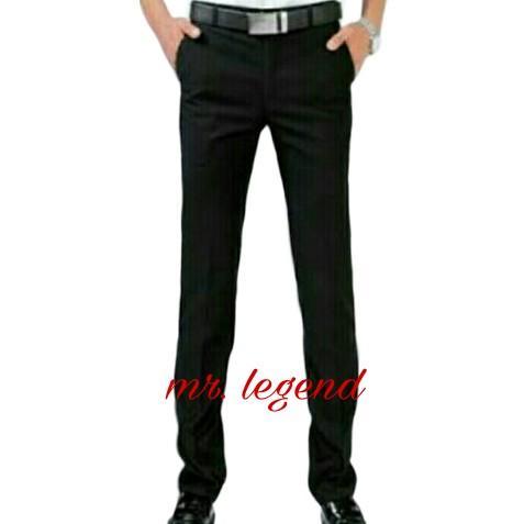 Mr.legend Celana Formal pria slim fit twis hitam / Celana kerja pria twis slimfit