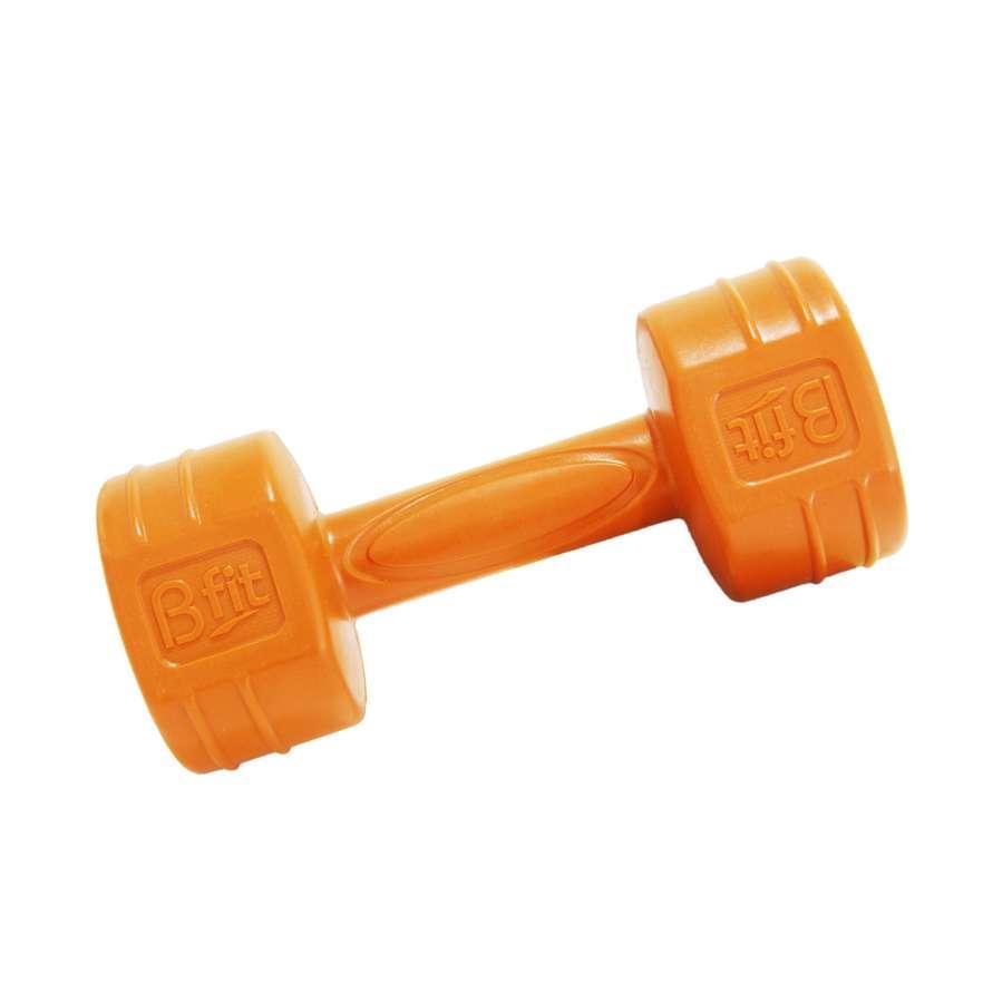 Barbel Bfit Cement Dumbell 1kg - 2pcs - Orange