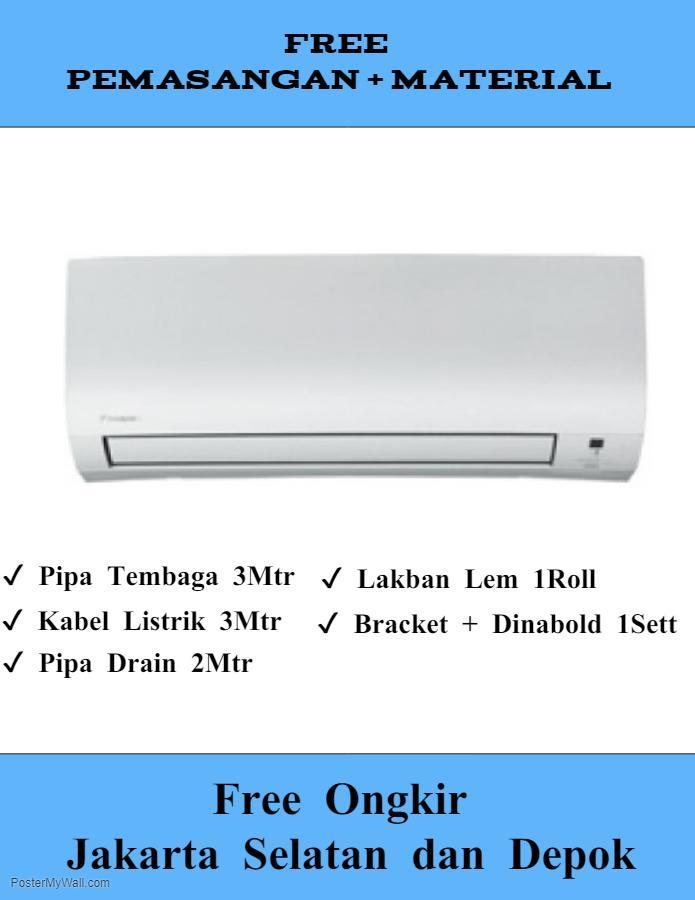 AC Daikin Flash Inverter 1 PK FTKQ25SVM4 Termasuk Pipa Bracket dan Pemasangan