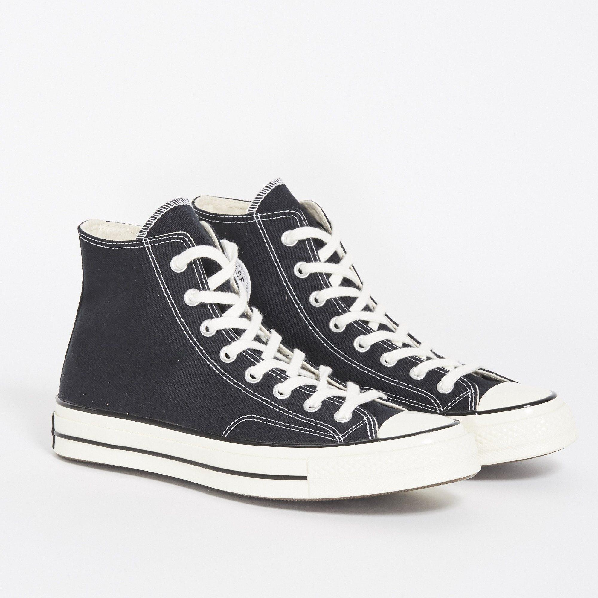 Converse Chuck Taylor 70s Canvas Hi - Black White 05db7ab754