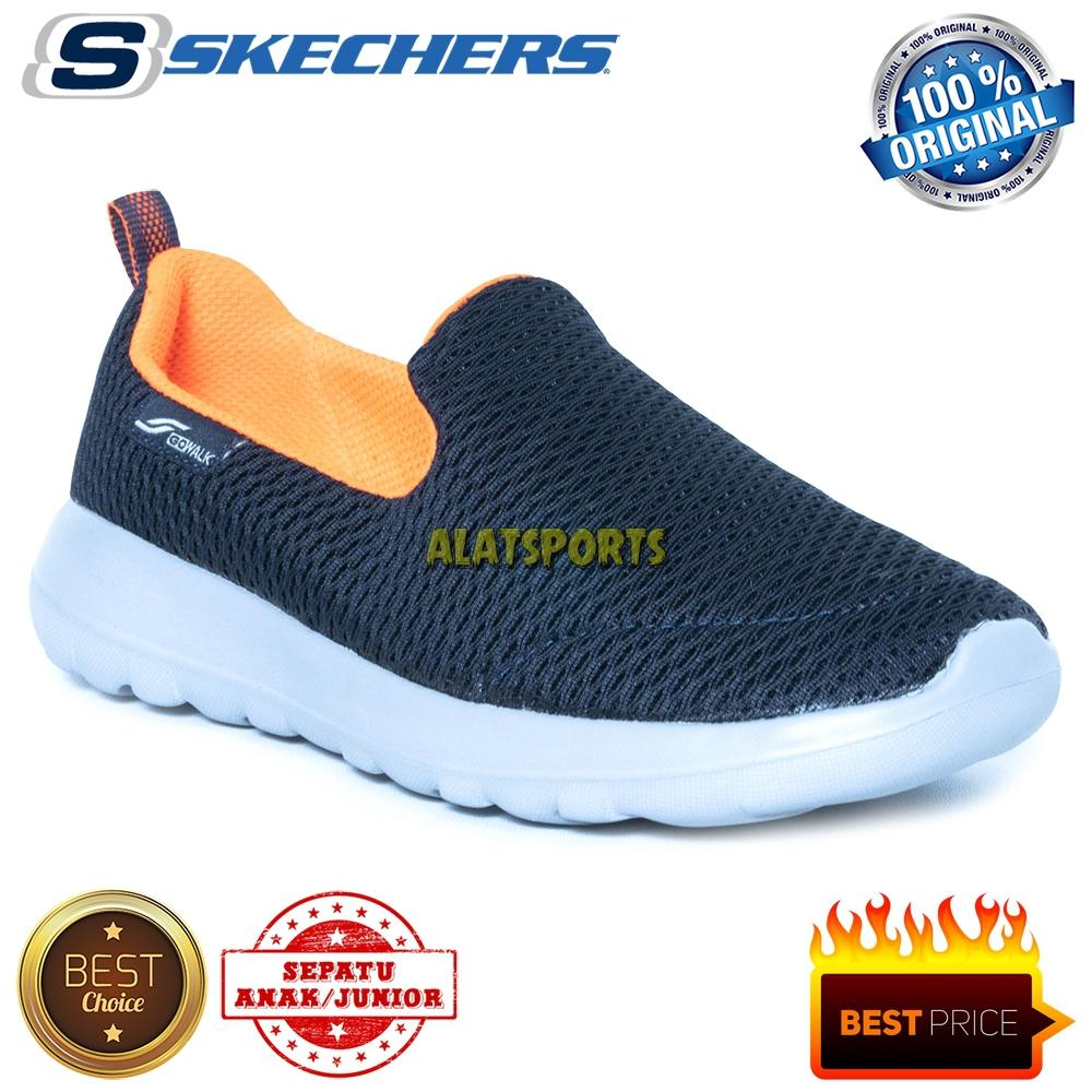 a2a39111d3f Sepatu Sneaker Anak Skechers Go Walk Max 97850L-NVOR - Navy - ORIGINAL