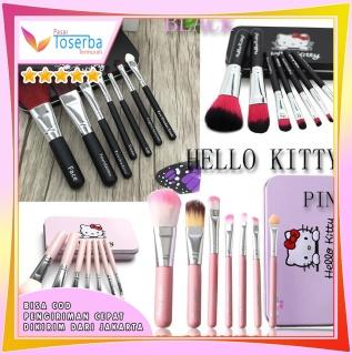 PTT Kuas Make Up 7 in 1 Hello Kitty Make Up Tools Make Up Brush thumbnail