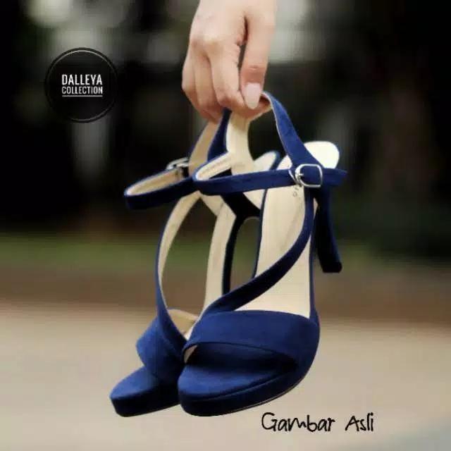 KELVINOS - Dalleya real pict sepatu sandal casual Heel tali silang
