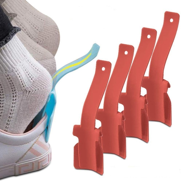 Giá bán Slipper Assistant, 4 Pieces of Portable Socks Slider-Handle Shoe Horn-Shoe Lifter for Easy on and Off, Suitable for Men, Women and Children-Suitable for All Shoes