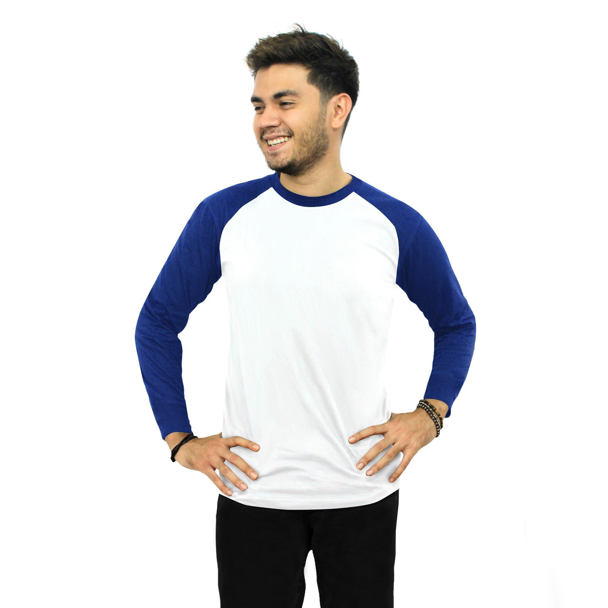 Kaos Polos Raglan Lengan Panjang 3/4 - JUMBO - Soft Cotton Combed 30S / Cotton T-Shirt Long Sleeves