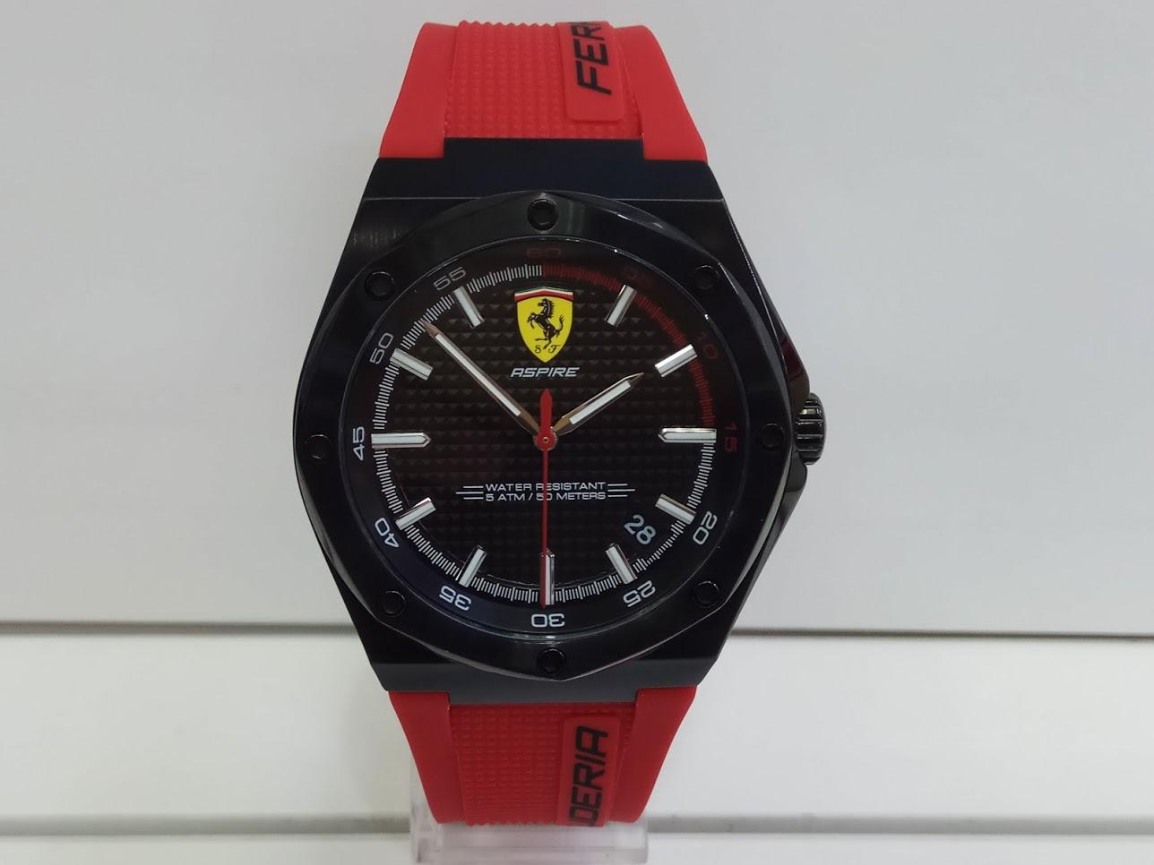 Ferrari Jam Tangan Pria Ferrari 0870030 Aspire FXX K Red Rubber Watch  Special Edition 9ca07ea688