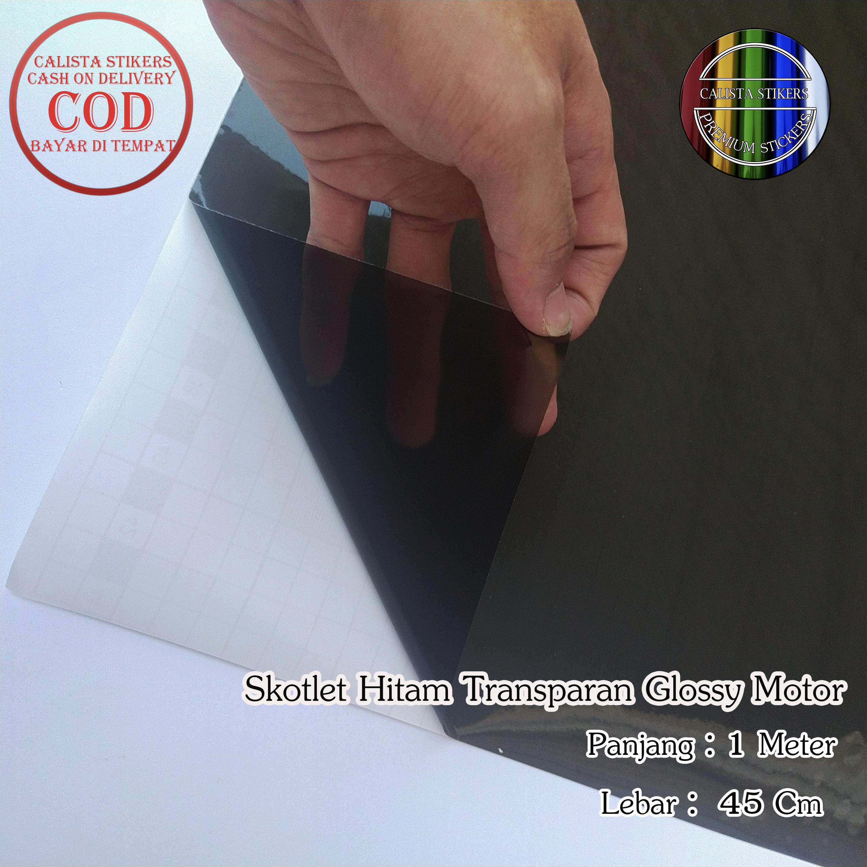 Stiker Skotlet Hitam Transparan Glossy Black Motor Ukuran P 1 Meter X L 45 Cm Lazada Indonesia