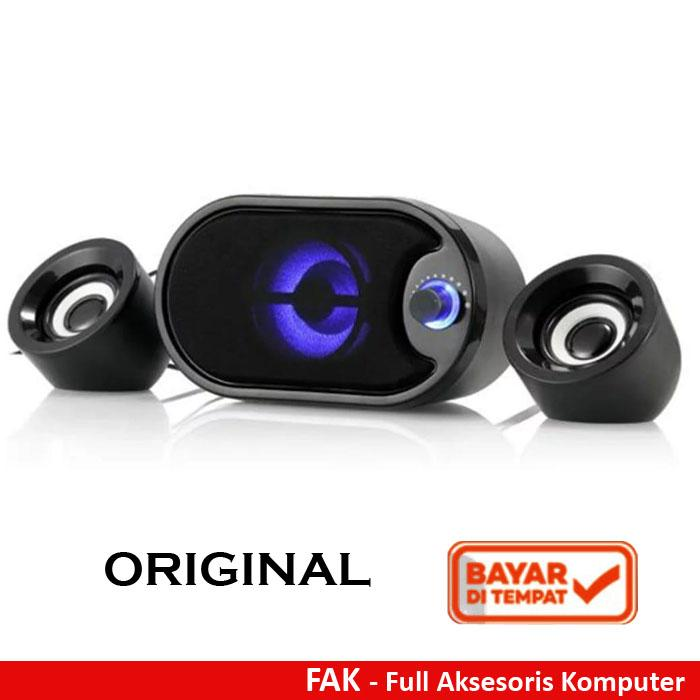 Robot Rs170 Speaker Komputer Speaker Laptop Stereo With Led Original By Full Aksesoris Komputer.
