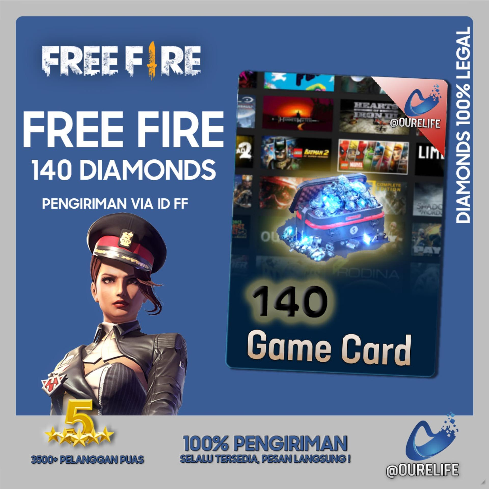 Top Up 140 Diamond Free Fire By Ourelife.co.id.