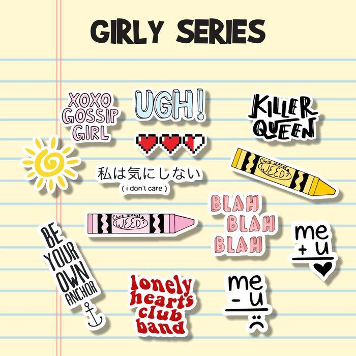 Sticker Aesthetic Stiker Tumblr Case Handphone Laptop Girly Series Lazada Indonesia