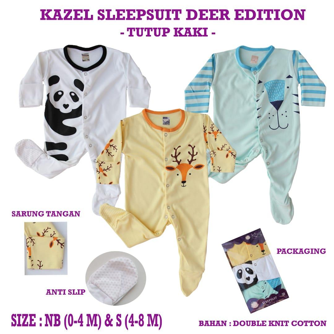 Kazel Sleepsuit Tutup Kaki Deer Edition 3in1 By Babyklik.