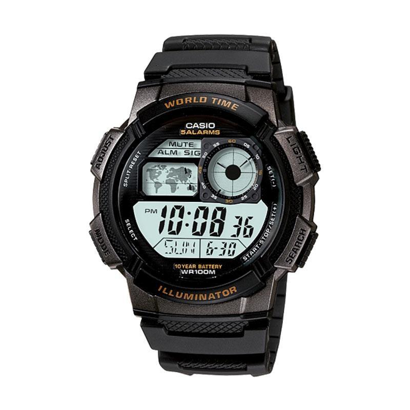 Casio Jam Tangan Pria AE-1000W - 1AVDF - Hitam 5ff30653be