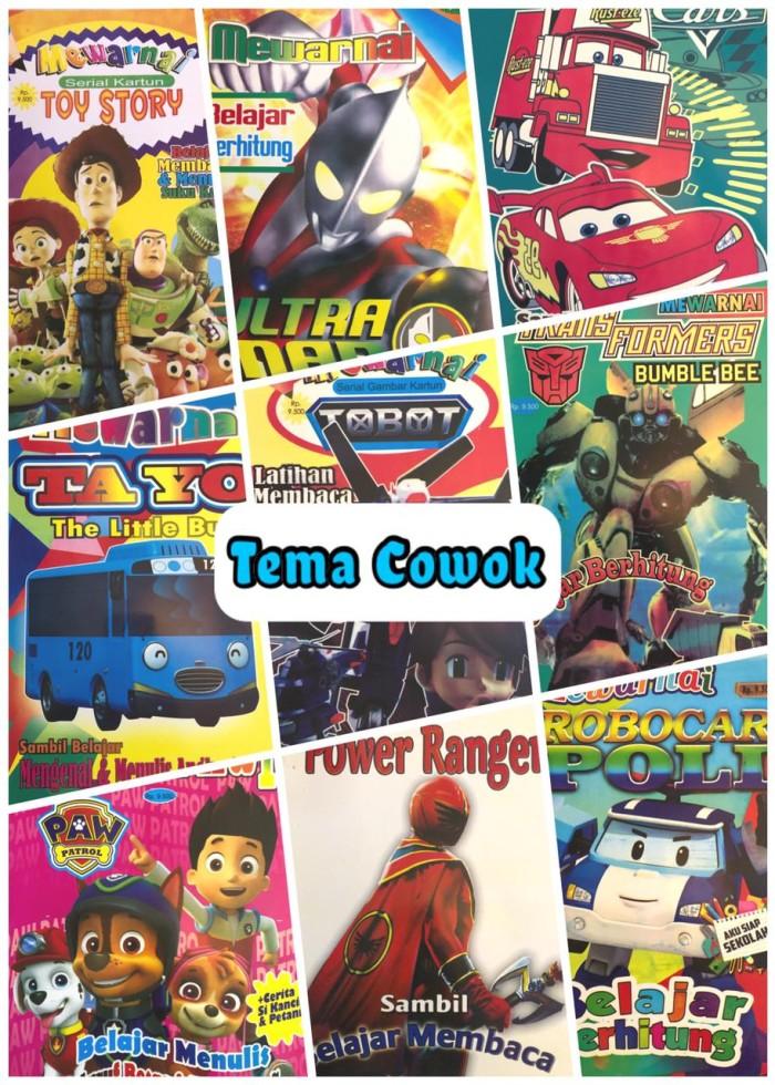 Ready Paket 10 Buku Mewarnai Anak Cowok Limited Lazada Indonesia
