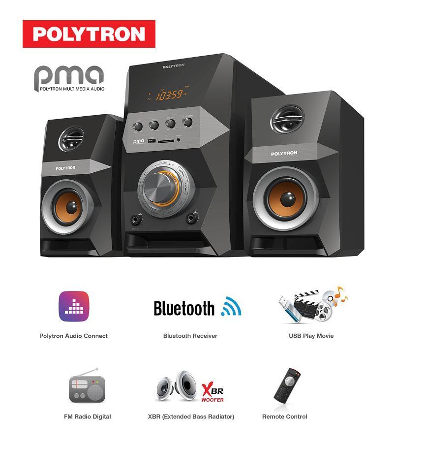 POLYTRON PMA-9505 Multimedia Player-Digital FM RADIO .USB .Karaoke FREE ONGKIR JABODETABEK