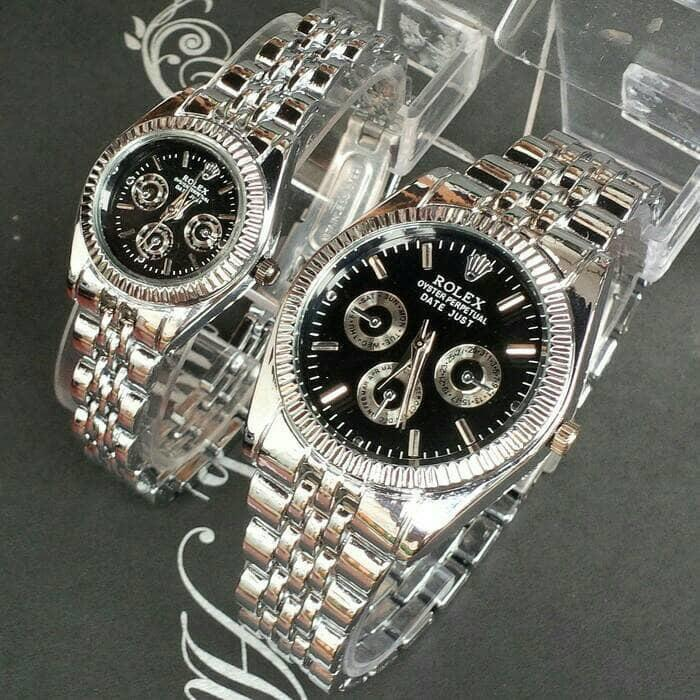 BEST SELLER! DISKON MURAH! jam tangan couple rolex RLX-100 Anti Air Original Murah Terbaru