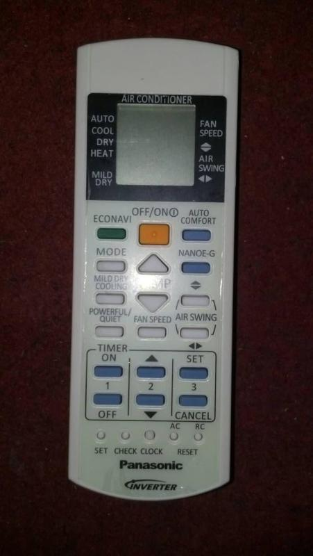 REMOTE AC PANASONIC INVERTER