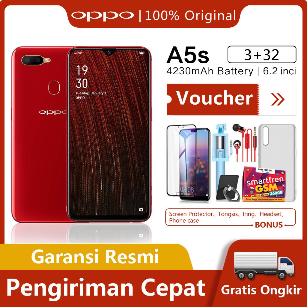 OPPO A5s hp 3G/32G - COD, Gratis Ongkir, 4230mAh Battery, Waterdrop Screen, Garansi resmi [ Please use the voucher ]