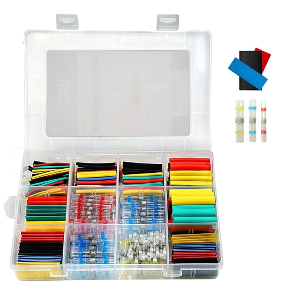 448Pcs Solder Seal Wire Connectors Waterproof & Heat Shrink Tubing Butt Connectors And Shrink Tubes All In One Electrical,Boat And Automotive Splice Kit No Crimp Cables And